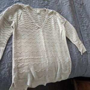 LuckyBrand cream cotton sweater